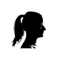 silueta mujer, cortador de jamon profesional en cáceres, para, eventos, bautizos, bodas, comuniones, cumpleaños.