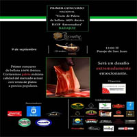 I Concurso de paleta Dehesa de Extremadura DOP en Badajoz